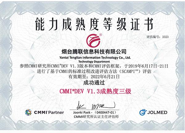CMMI能力三级认证